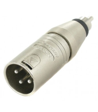 Neutrik NA2 MPMM: XLR male > RCA male