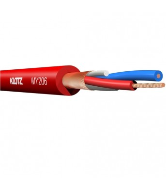 Klotz MY206 Balanced Mic Cable Red