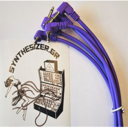 Synthesizer GR 30CM Angle Purple Pack 5 Patch Cable