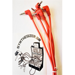 Synthesizer GR 90CM Angle Red Pack 5 Patch Cable