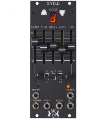 Michigan Synth Works SY0.5 Analog Drum Module Black
