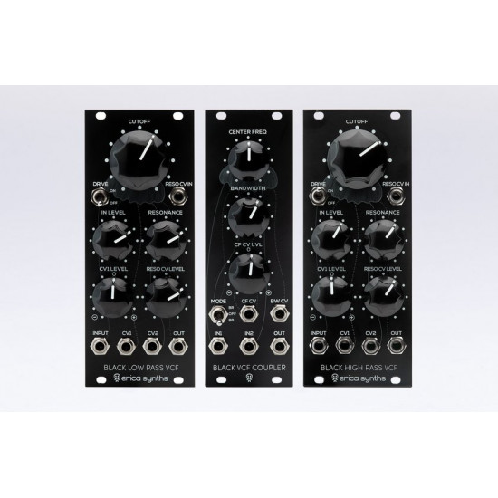 Erica Synths Black LP VCF-HP VCF-VCF Coupler Set