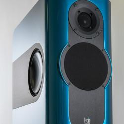 Kii Audio THREE Pro DSP Studio Monitor Pair Aquamarine Metallic