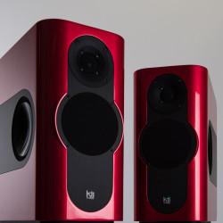 Kii Audio THREE Pro DSP Studio Monitor Pair Chili Red Metallic