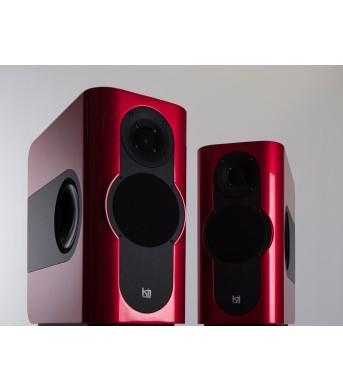 Kii THREE Pro DSP Studio Monitor Pair Chili Red Metallic