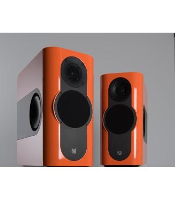 Kii Audio THREE Pro DSP Studio Monitor Pair Orange High Gloss