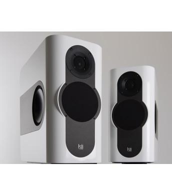 Kii THREE Pro DSP Studio Monitor Pair White High Gloss