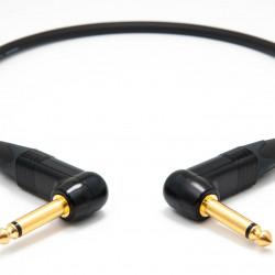 Mogami 2524 Instrument Cable 0,5 M Neutrik Gold 6.3mm TS angled jack - TS angled jack