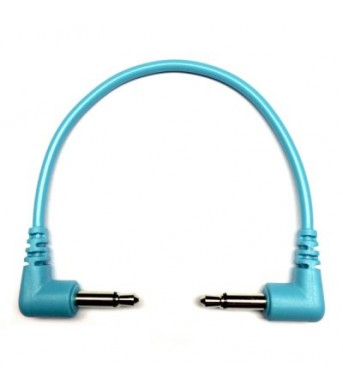 Tendrils Right Angled Eurorack Patch Cable (10cm Cyan) 6 patch