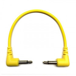 Tendrils Right Angled Eurorack Patch Cable (10cm Yellow) 6 patch