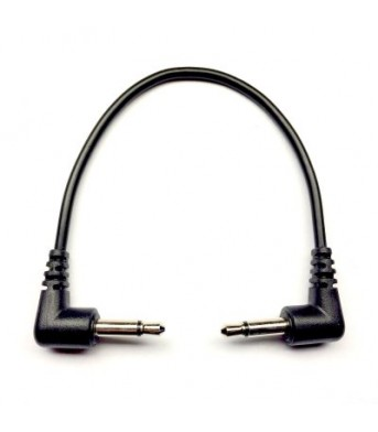 Tendrils Right Angled Eurorack Patch Cable (10cm Black) 6 patch