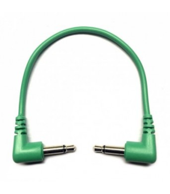Tendrils Right Angled Eurorack Patch Cable (10cm Emerald) 6 patch