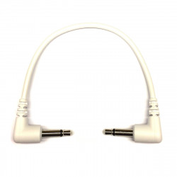 Tendrils Right Angled Eurorack Patch Cable (10cm White) 6 pack