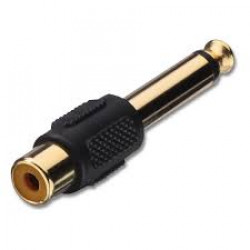 Adaptor from rca female socket to 6.3mm jack