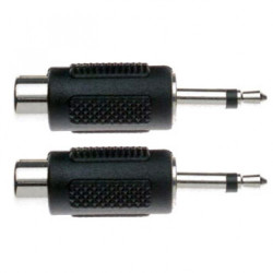 Adaptor from rca female socket to 3.5mm jack