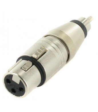Neutrik NA2 FPMM: Steckadapter, XLR female > RCA male