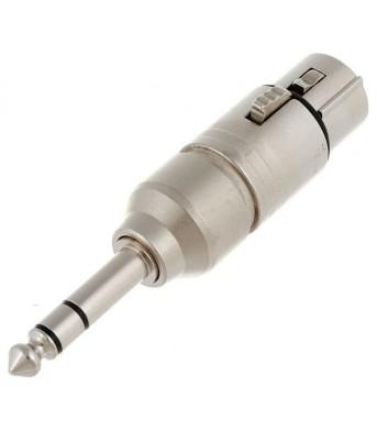 Neutrik NA3 FP Adapter.XLR Female - Stereo Male 6,3mm Jack PRE-ORDER