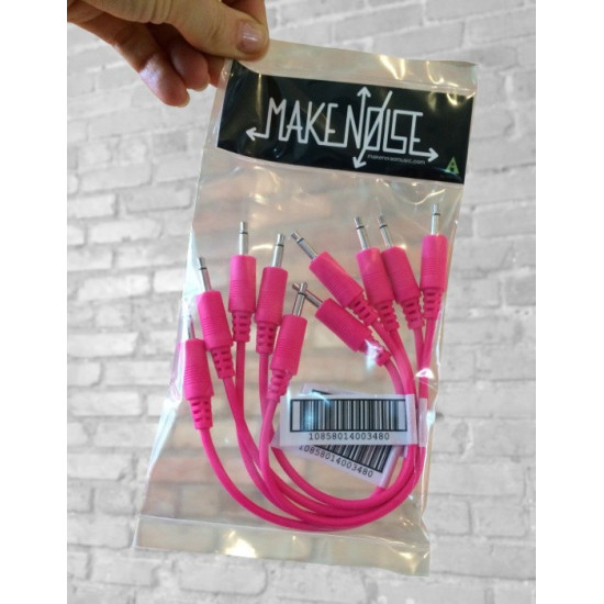 Make Noise 15cm Patch cables 5 pack pink