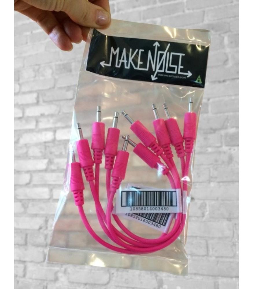 make noise 15cm patch cables 5 pack pink. Black Bedroom Furniture Sets. Home Design Ideas